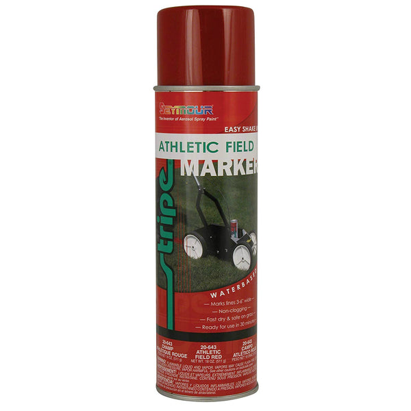 Seymour 20-643 Stripe Athletic Field Marking Spray Paint, Red, 18 Oz