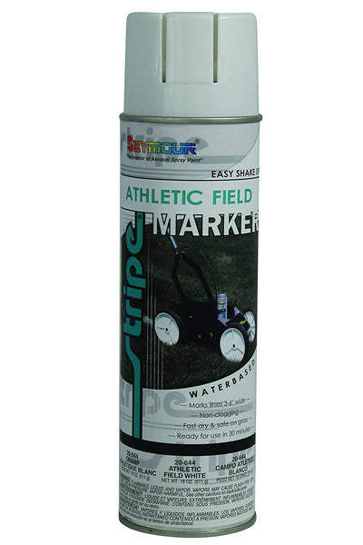 Seymour 20-644 Stripe Athletic Field Marking Spray Paint, White, 18 Oz