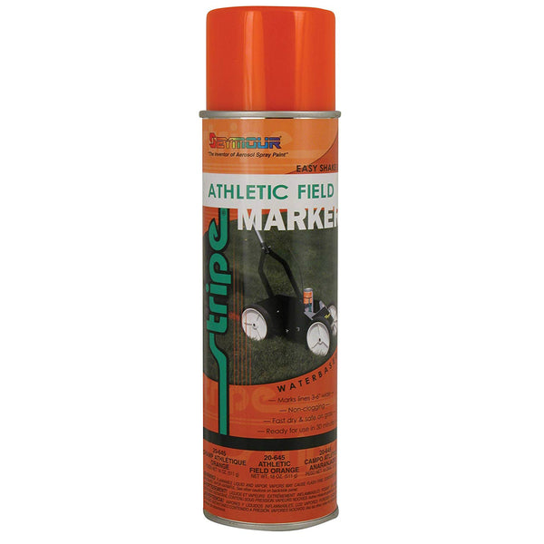 Seymour 20-645 Stripe Athletic Field Marking Spray Paint, Orange, 18 Oz