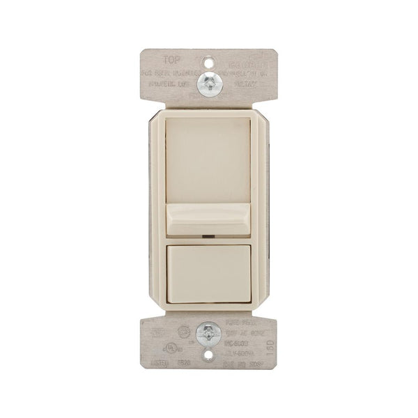 Eaton SAL06P2-LA-K-L AL Series Slide Dimmer Switch, 1 Pole/3-Way, Light Almond