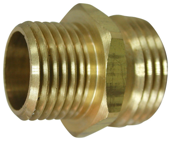 "Landscapers Select PMB-469LFBC Brass Garden Hose Adapter, 3/4"" MHT x 1/2 MIP"