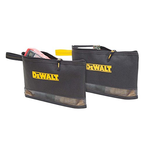 "DeWalt DG5102 Multi-Purpose Zippered Bags, 2-Pockets, 12"", 2-Pack"