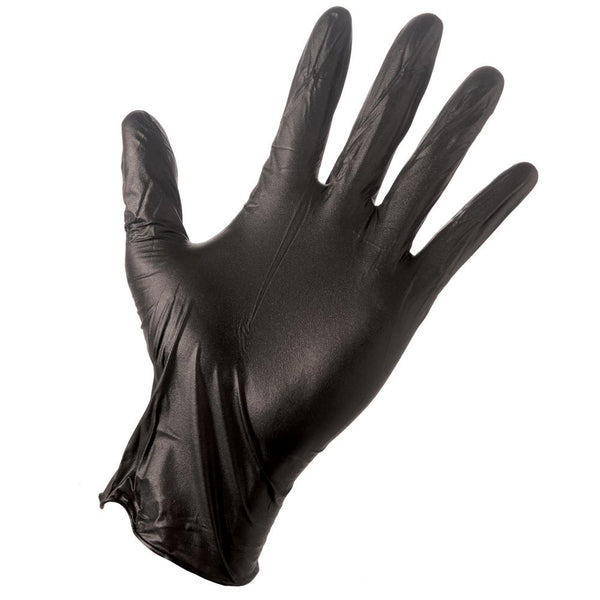 Grease Monkey 23891-110 Men's Disposable Nitrile Glove, Black, Medium, 100-Ct