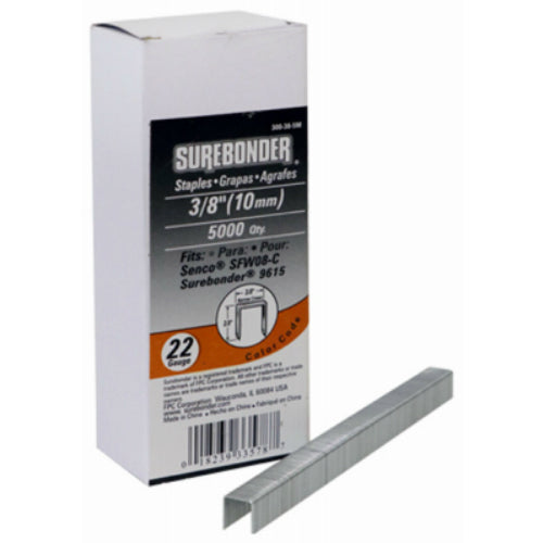 "Surebonder 300-38-5M Narrow Crown 22-Gauge Upholstery Staples, 3/8"", 5000-Count"