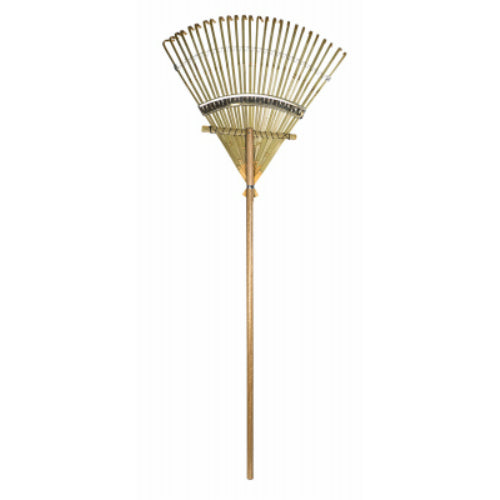 "Rugg B24 Deluxe Bamboo Rake with 24"" Head & 48"" Hardwood Handle"