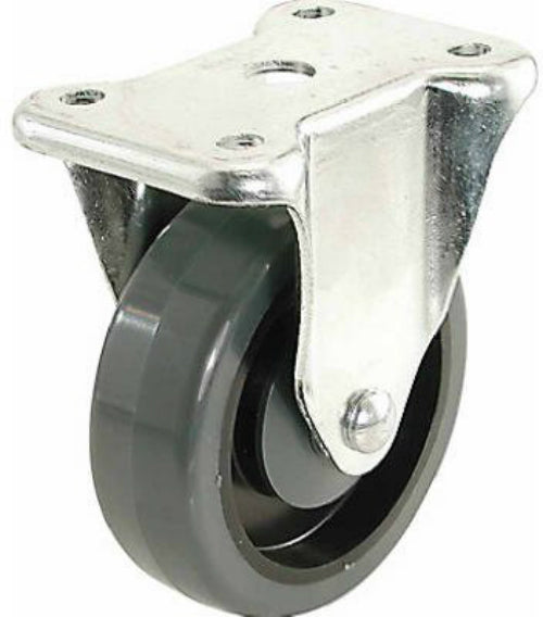 Richelieu F25830 Polypropylene Wheel Rigid Caster without Brake, 275 Lb, 4""