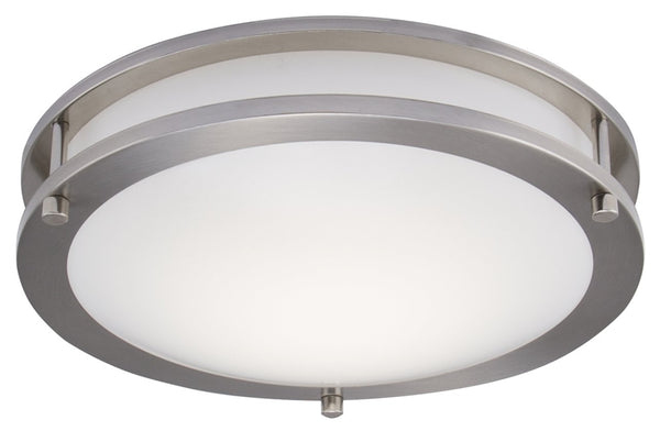 Boston Harbor CL200AC Dimmable LED Flush Mount Ceiling Fixture, Brushed Nickel, 12""