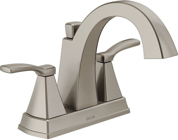 Delta 25768LF-SS Flynn Two-Handle Centerset Bathroom Faucet, Brushed Nickel