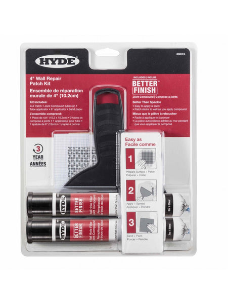 "Hyde 09915 Better Finish 4"" Wall Repair Patch Kit"