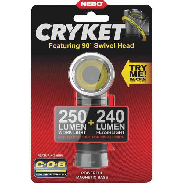 Nebo 6725 Cryket 3-In-1 LED Work & Flashlight with 9 Position Swivel Head