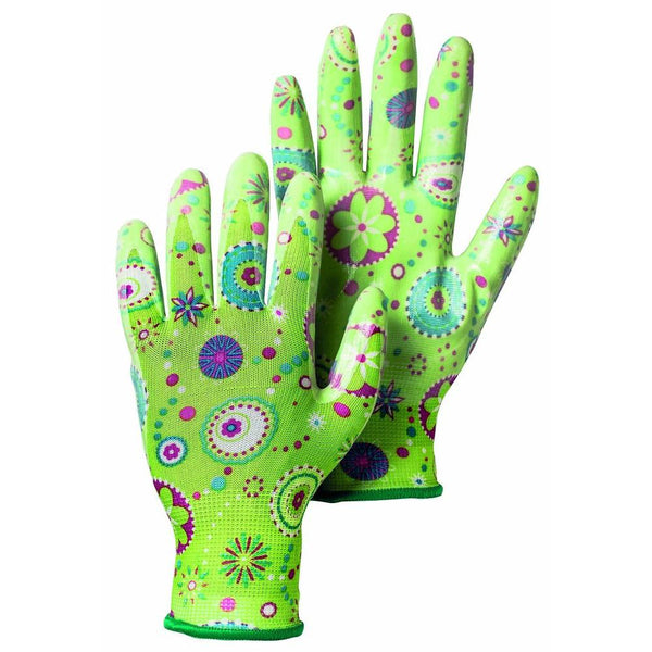 Hestra Job 72470-830-07 Form Fitting Garden Dip Glove, Green, Size 7, Small