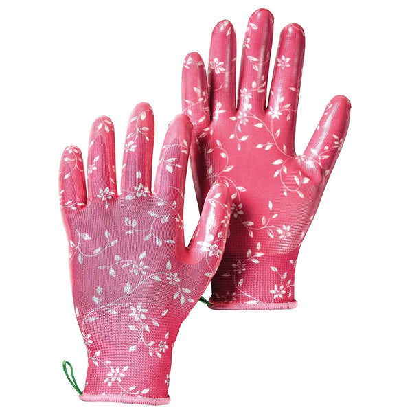 Hestra Job 72470-930-07 Form Fitting Garden Dip Glove, Fuchsia, Size 7, Small