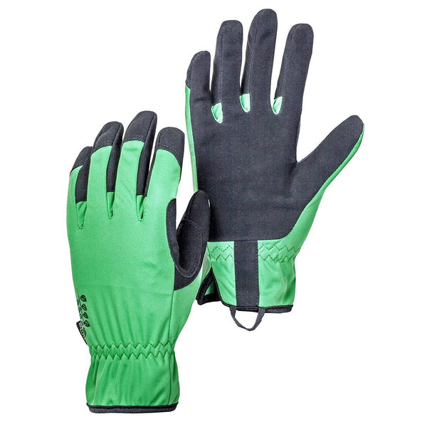 Hestra Job 75020-850100-07 Flora Garden Gloves, Green & Black, Size 7, Small