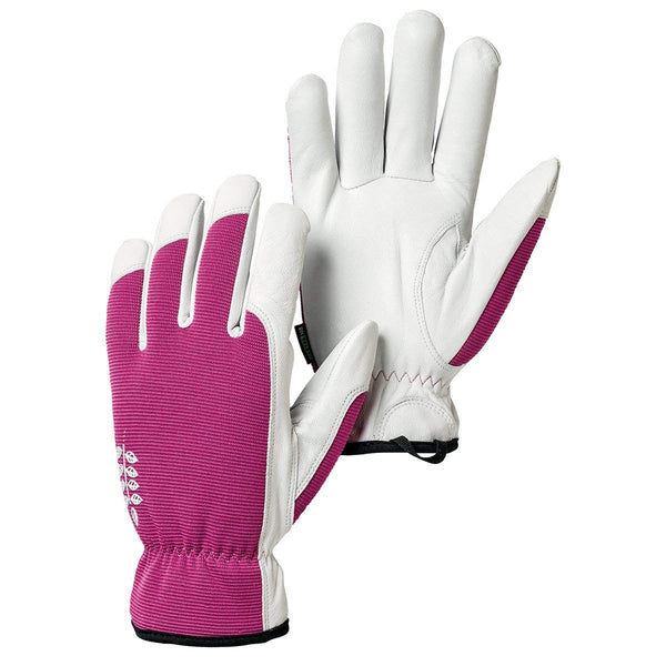 Hestra Job 73180-930-08 Kobolt Garden Gloves, Fuchsia & White, Size 8, Medium