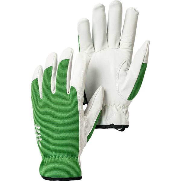 Hestra Job 73180-850-08 Kobolt Garden Gloves, Green/White, Size 8, Medium