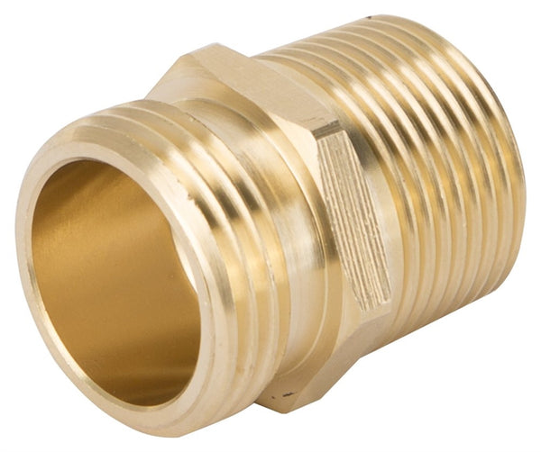 "Landscapers Select GHADTRS-1 Double Hose Connector, 3/4"" Male NH x 3/4"" MNPT x 1/2"" FNPT"