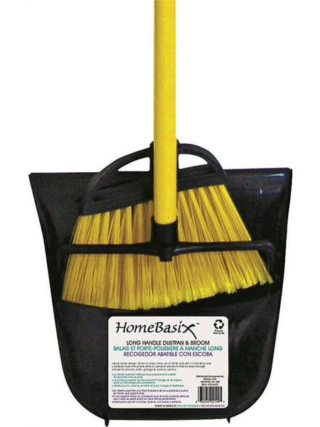 "HomeBasix 2331 Long Handle Dustpan & Lobby Broom, 7/8"" x 36"""