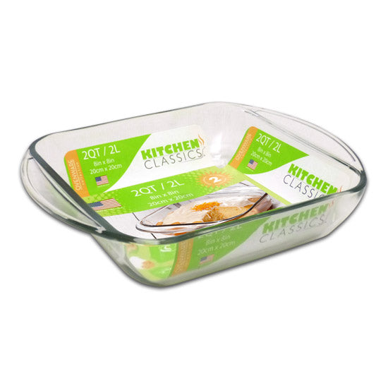 "Libra 195-67522LIB Kitchen Classics Square Glass Baking Dish, 2 Qt, 8"" x 8"""