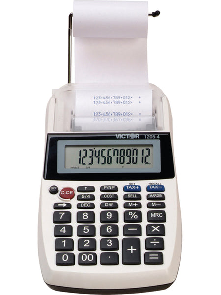 Victor 1205-4 Large LCD 12-Digit Palm/Desktop Commercial Printing Calculator