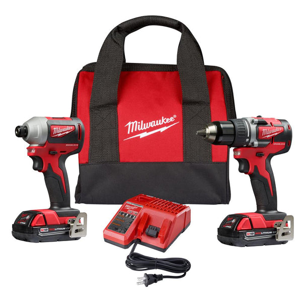 Milwaukee 2892-22CT Cordless M18 Compact Brushless Drill/Impact Combo 2-Tool Kit