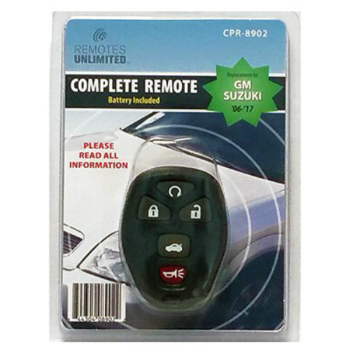 Remotes Unlimited CPR-8902 Replacement 5-Button Remote for GM/Suzuki 06-14