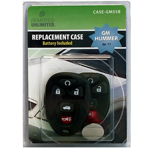 Remotes Unlimited CASE-GM55B GM Hummer 5-Button Replacement Case & Battery