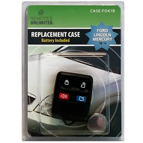 Remotes Unlimited CASE-FO41B Ford 4-Button Replacement Case & Battery