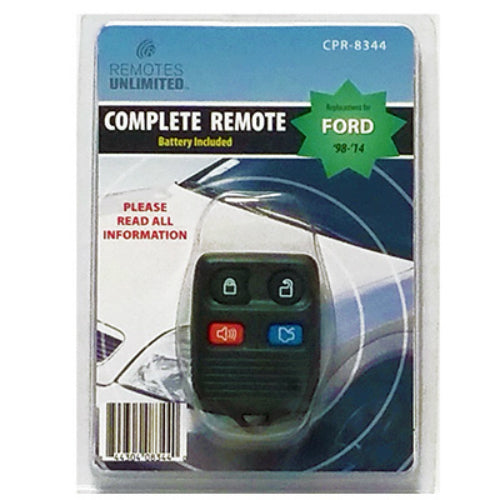Remotes Unlimited CPR-8344 Ford Replacement 4-Button Remote with Battery