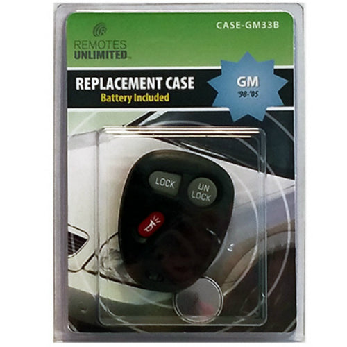 Remotes Unlimited CASE-GM33B General Motors 3-Button Replacement Case & Battery