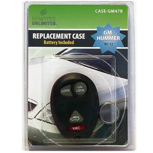 Remotes Unlimited CASE-GM47B GM Hummer 4-Button Replacement Case & Battery