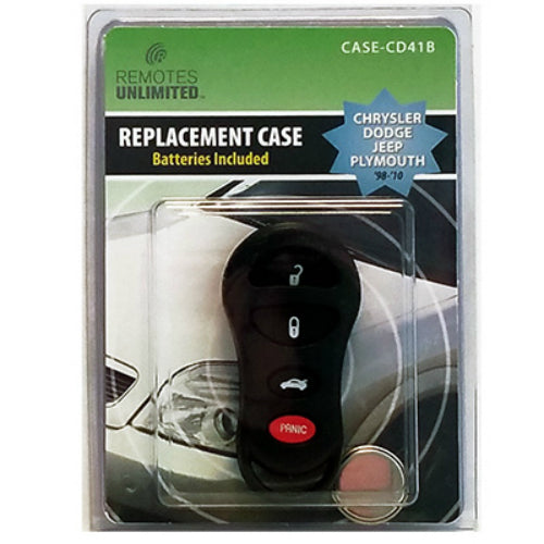 Remotes Unlimited CASE-CD41B Chrysler 4-Button Replacement Case & Battery