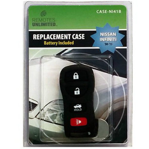 Remotes Unlimited CASE-NI41B Nissan Infiniti 4-Button Replacement Case & Battery