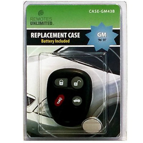 Remotes Unlimited CASE-GM43B General Motors 4-Button Replacement Case & Battery