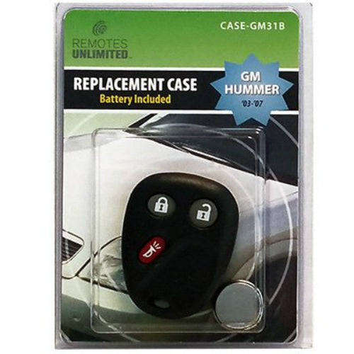 Remotes Unlimited CASE-GM31B GM Hummer 3-Button Replacement Case & Battery