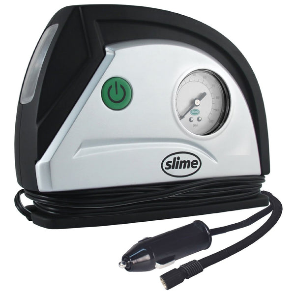Slime 40050 Gen2 Standard Tire Inflator with Gauge & LED Light, 12V, 8-Minutes