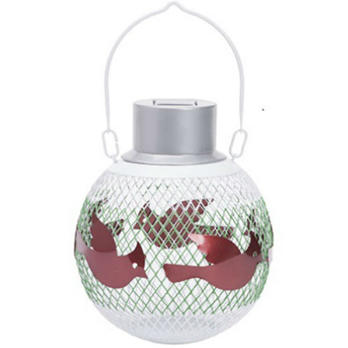 Woodstream SSB00349D Holiday Seed Ball Bird Feeder with Solar Light, Assorted