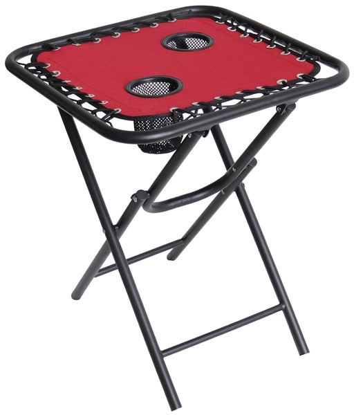 "Seasonal Trends T5S18FR1BKOX17 Square Bungee Folding Table, Red, 18"" x 21-1/2"""