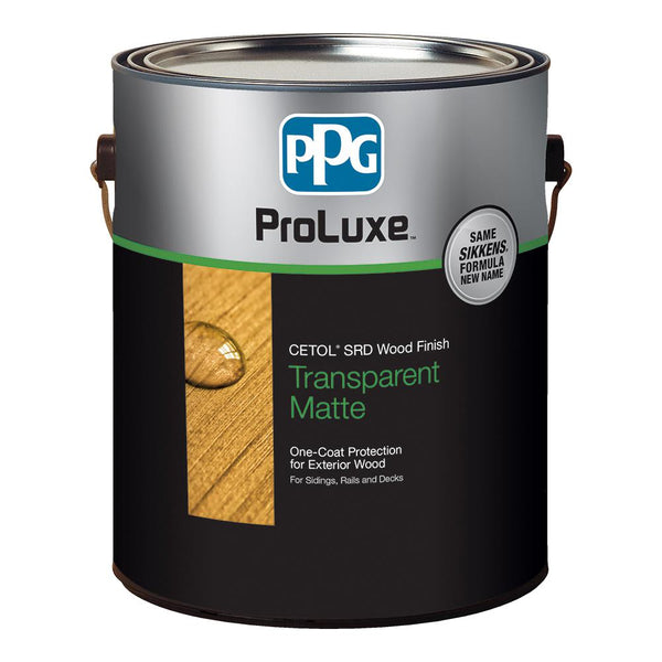 PPG SIK240-077/01 ProLuxe Cetol SRD Transparent Matte Wood Finish, Cedar, Gal
