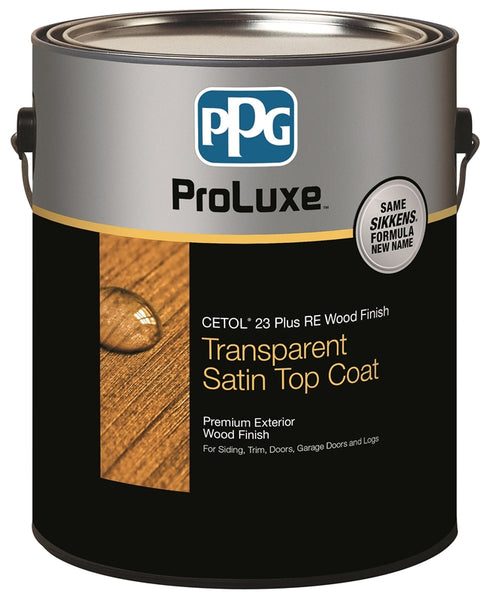 PPG SIK43077/01 ProLuxe Cetol 23 Plus RE Transparent Satin Wood Finish, Cedar, Gal