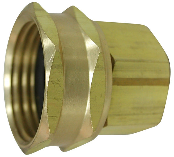 "Landscapers Select PMB-059LFBC Brass Hose Adapter, 3/4"" FHT Swivel x 1/2 FIP"