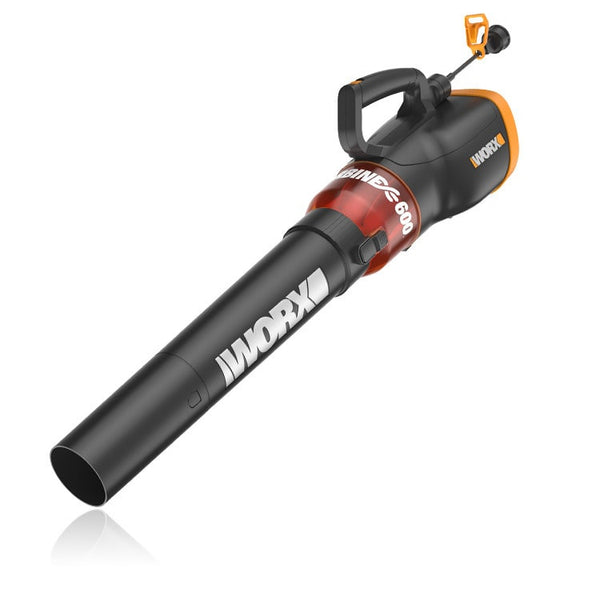Worx WG520 Turbine 600 Electric Leaf Blower, Variable-Speed, 12 Amp, 110 MPH
