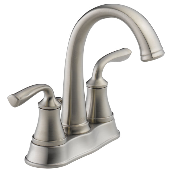 Delta 25716LF-SS-ECO Lorain Two-Handle Centerset Bathroom Faucet, Stainless