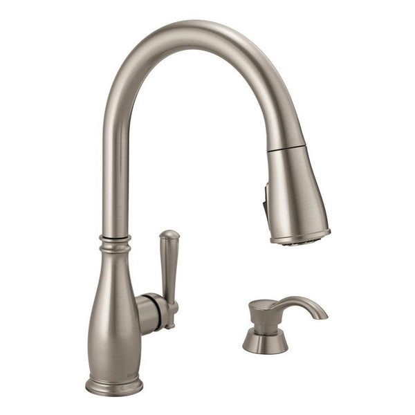 Delta 19962-SSSD-DST Charmaine 1-Handle Pull-Down Kitchen Faucet, Stainless