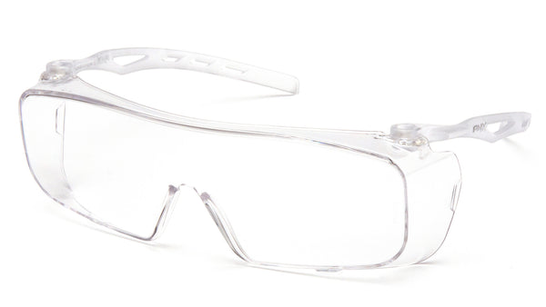Pyramex S9910ST-TV Over-The-Spectacle Safety Glasses, Clear Anti-Fog Lens