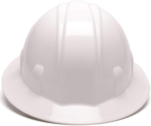 Pyramex HP24110-TV Full Brim 4-Point Ratchet Suspension Hard Hat, White