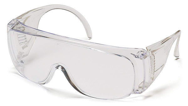 Pyramex S510S-TV Economical Safety Glasses, Clear Lens/Frame Combination