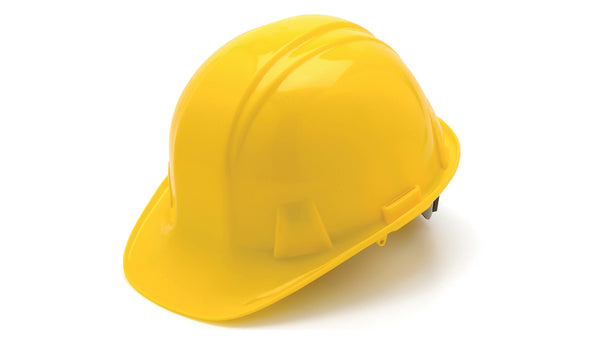 Pyramex HP14130-TV Cap Style 4-Point Ratchet Suspension Hard Hat, Yellow