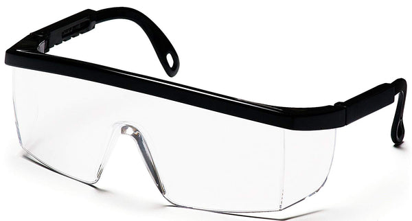 Tru-Guard SB410S-TV Wraparound Safety Glasses, Black Frame/Clear Lens