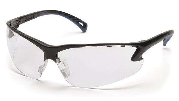 Pyramex SB5710D-TV Adjustable Safety Glasses, Clear Lens with Black Frame