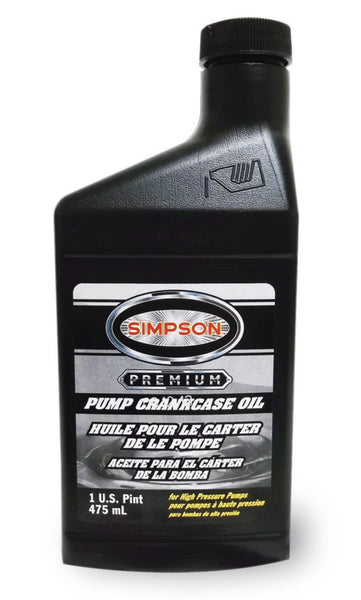 Simpson 80138 Premium Pump Crankcase Oil, 16 Oz